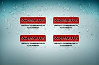 4x Sticker gps alarm system warning decal anti theft car vehicle vinyl security