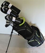NEW Mens Complete M3 Golf Set RH Clubs Driver Wood Hybrid Irons Putter Stand Bag