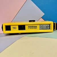 Matshima All Weather 110 Film Camera Yellow Water Resistant, Full Working Order