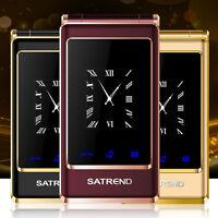 A15 mobile phone Dual screen Dual SIM Card GSM Quad Band big keys cell Phone