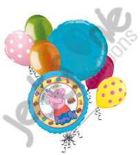 7 pc Peppa Pig Happy Birthday Balloon Bouquet Party Decoration Nick Jr. Cake