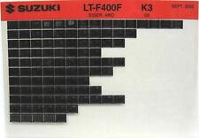 Suzuki LT-F400F Eiger 4WD 2003 Parts Catalog Microfiche s521a