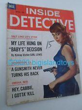 Vintage Magazine Inside Detective Dell April 1963 Hey Cabbie I Gotta Kill