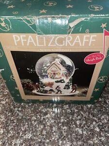 PFALTZGRAFF NORDIC CHRISTMAS MUSICAL MOTION SNOW GLOBE WITH BOX
