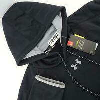 NWT Men Under Armour Storm Coldgear Black Casual Hoodie Sweat Shirt Size Large
