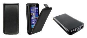 Cover Custodia Lusso (Sottile Pelle Nero ) ~ Nokia Lumia 925