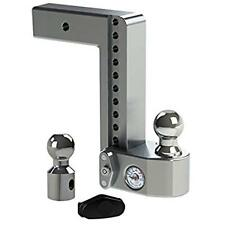 "Weigh Safe WS10-2.5 Adjustable 10"" Drop Hitch Ball Mount w/ Tongue Weight Scale"
