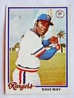 Dave May #362 Topps 1978 Baseball Card (Texas Rangers) VG