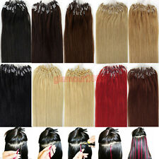 "Micro Ring Beads Loop Remy Real Human Hair Extensions Straight  22""0.5g/s 100s"