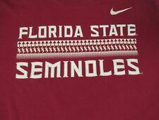 NIKE - FSU FLORIDA STATE SEMINOLES - 2XL - BURGUNDY RED T-SHIRT- Q1871