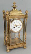 Antique French Ovington Brothers Gilt Bronze Regulator Clock, Fruit & Flowers