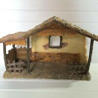 """Dicksons Gifts Resin Nativity Stable Creche 14"""" Wide Rustic A Touch of Heaven"""