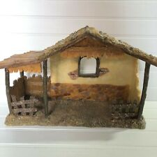 "Dicksons Gifts Resin Nativity Stable Creche 14"" Wide Rustic A Touch of Heaven"