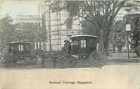 POSTCARD   SINGAPORE   HACKNEY  CARRIAGE