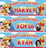 2 x Personalized Winnie the Pooh Birthday Banner Photo Nursery Children Party