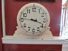 CLOCK 19TH C. WALTHAM WEIGHT-DRIVEN MARBLE FACE INDUSTRIAL REGULATOR