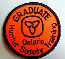 Vintage Hunter Safety Training Graduate Ontario Patch