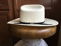 efe32ec4a4e96 NWT Straw Cowboy Hat American Hat Company 6 And 7 8 Genuine Leather Long  Oval