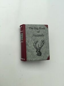 MINIATURE READABLE BOOK THE BIG BOOK OF ANIMALS COLOUR PICTURES DOLLS HOUSE
