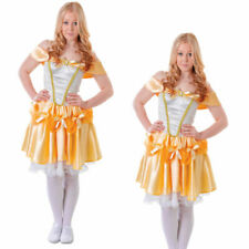 Belle Costume Teenage Adults Ladies Fairytale Fancy Dress Outfit Size 6-8