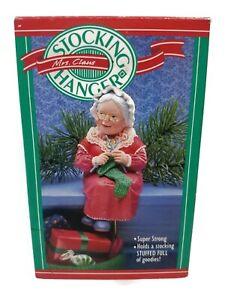 Hallmark Mrs.Santa Claus Knitting Stock Hanger