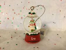 ERIN Ganz Glass Snowman Snowglobe Ornament Stocking Stuffer Gift