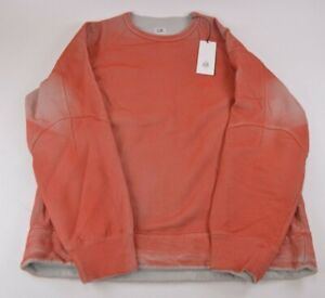 C.P. Company NWT Crew Neck Sweat Shirt Size L In Orange P.Ri.S.M. Dyed