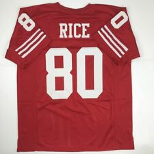 fa4c9a7e14a New JERRY RICE San Francisco Red Custom Stitched Football Jersey Size Men s  XL