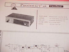 1967 KINEMATIX REVERBERATION UNIT RADIO SERVICE MANUAL MODEL VERBA-MITE VX-700