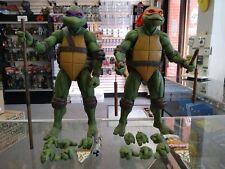 NECA Teenage Mutant Ninja Turtles 1/4 Scale Donatello & Michelangelo Loose Lot!!