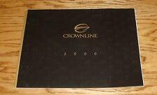 Original 2000 Crownline Boat Full Line Deluxe Sales Brochure 00