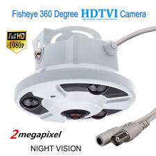 1080P HD-TVI 2.0MP 360 degree Panoramic CCTV Security Dome FishEye NIGHT CAMERA