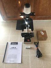 Olympus Ck2 Inverted Microscope Phase Contrast Usb Camera 410ph20ph Lab Ready