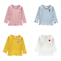 Toddler Kids Baby Girl Long Sleeve T-shirt Tops Autumn Winter Blouse Pullovers