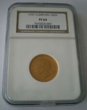 More details for rare 1937 king george vi ngc proof 64 full gold sovereign coin