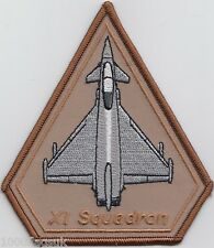 No. 11 Squadron Royal Airforce Desert Typhoon Operations Embroidered Patch Badge