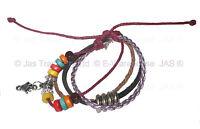 Tribal Pendant Hemp Leather 70s Boho Hippie Surfer Anklet Bracelet Wristband