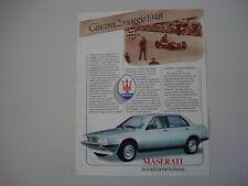 advertising Pubblicità 1984 MASERATI BITURBO 425
