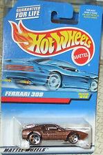 1998 Hot Wheels #816 Brown Ferrari 308 Malaysia 5H Diecast 4+ Boys & Girls