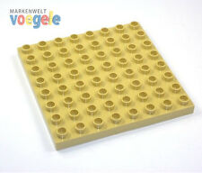 Lego Duplo Plate in color Beige/Tan 8 x 8 Nubs Building Plate Top