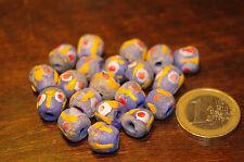 lot de 20 perles en pâte de verre recyclé  du Ghana afrique ethnique