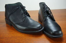 NEW Premium Black Calfskin Leather Woman's Shoes Size 7.5M Made In Germany