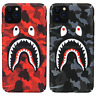 Bape Camo Shark Glow in the dark Hard Case Cover For iPhone 11 Pro Max XS XR 8 7