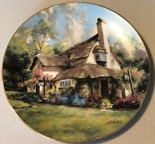 Periwinkle Tea Rooms Collector Plate English Country Cottages Marty Bell 1990