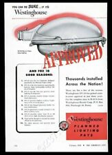 1950 Westinghouse OV-20 mercury vapor streetlight photo vintage trade ad