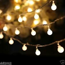 3.3M 20LED Bulbs Operated Ball Strings Light Luminaria Decoration Christmas Lamp