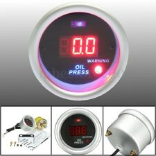 52mm Digital Oil Pressure Meter Gauge - Bar Display With Sensor & Fitting Kit