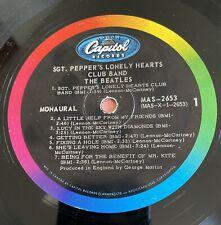 Beatles Sgt. Pepper Capitol MAS-2653 MONO Pressing Canadian Pressing (1967)