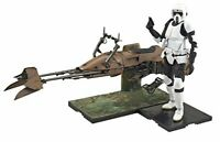 Bandai Star Wars Scout Trooper and Speeder Bike 1/12 Scale Plastic Model Kit