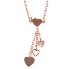 Treaty Jewellery love hearts rose gold necklace in gift pouch, mother's day gift